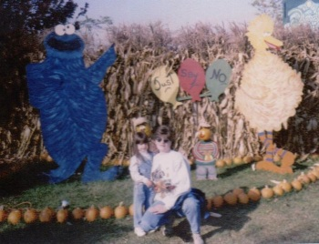 Me & the best mom (my mom) at Schnepf Farms in 1996